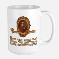 Ben Franklin on Security and Mug