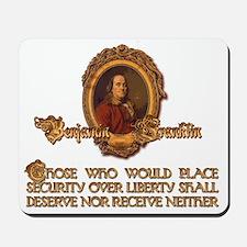 Ben Franklin on Liberty Mousepad