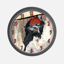 Baby Pileated Woodpecker Wall Clock