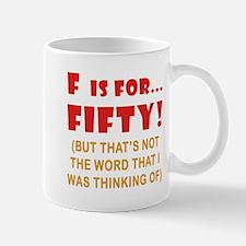 Attitude 50th Birthday Mug