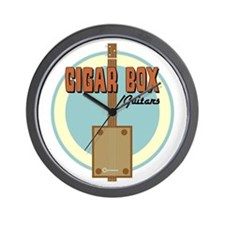 Cigar Box Guitar Wall Clock