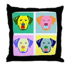 Labrador Retriever Pop Art Throw Pillow