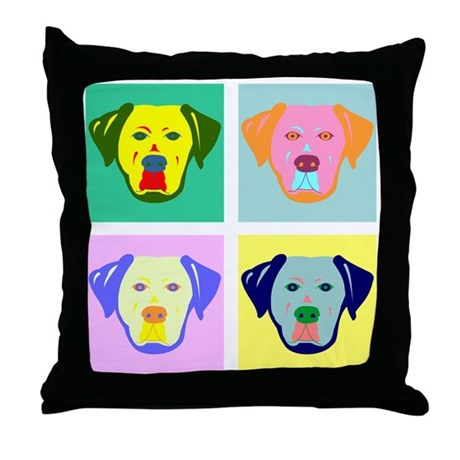 Labrador Retriever Pop Art Throw Pillow