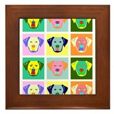 Labrador Retriever Pop Art Framed Tile