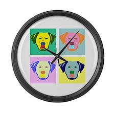 Labrador Retriever Pop Art Large Wall Clock