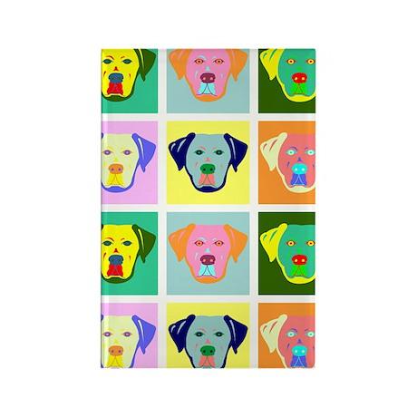 Labrador Retriever Pop Art Rectangle Magnet