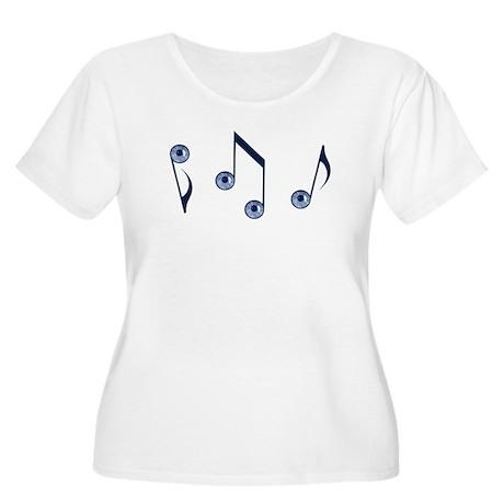 eyeTunes Women's Plus Size Scoop Neck T-Shirt