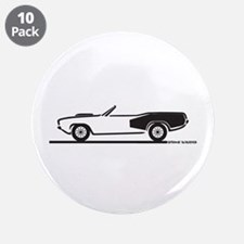 "1970-74 Hemi Cuda Convertible 3.5"" Button (10 pack"