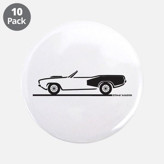 """1970-74 Hemi Cuda Convertible 3.5"""" Button (10 pack"""