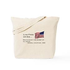"""""""Live Free or Die"""" Tote Bag"""