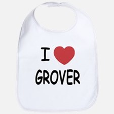 I heart Grover Bib