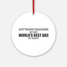 World's Best Dad - Software Eng Ornament (Round)