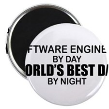 World's Best Dad - Software Eng Magnet
