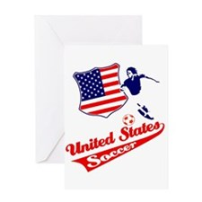 United States soccer Greeting Card