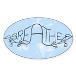 Breathe Sticker (Oval 10 pk)