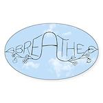Breathe Sticker (Oval 10 pk)
