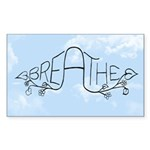 Breathe Sticker (Rectangle 10 pk)
