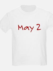 """""""May 2"""" printed on a T-Shirt"""