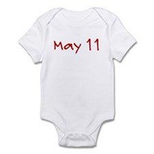 """May 11"" printed on a Infant Bodysuit"