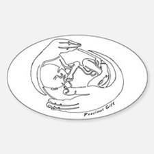 Precious Gift Oval Decal