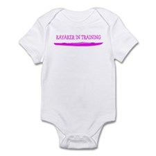 Kayaker In Training (Pink) Infant Bodysuit
