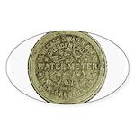 Original Meter Cover Oval Sticker