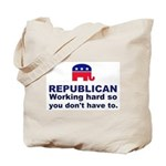Republican Working Hard Tote Bag