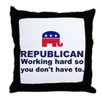 Republican Working Hard Throw Pillow