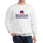 Republican Working Hard Sweatshirt