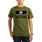Republican Working Hard Organic Men's T-Shirt (dar