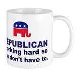 Republican Working Hard Mug