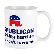 Republican Working Hard Mug