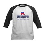 Republican Working Hard Kids Baseball Jersey
