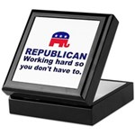 Republican Working Hard Keepsake Box