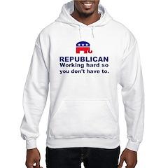 Republican Working Hard Hoodie