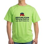 Republican Working Hard Green T-Shirt