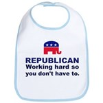 Republican Working Hard Bib