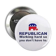"Republican Working Hard 2.25"" Button"