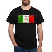 Ski The Alps Torino Italy Black T-Shirt