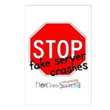 Stop Fake Server Crashes Postcards (Package of 8)
