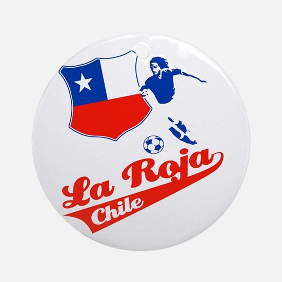 Chilean soccer Ornament (Round)