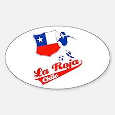 Chilean soccer Sticker (Oval)