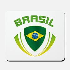 Soccer Crest BRASIL Mousepad