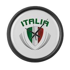 Soccer Crest ITALIA Large Wall Clock