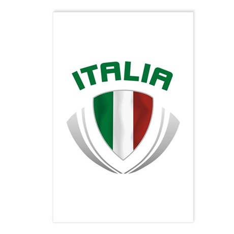 Soccer Crest ITALIA Postcards (Package of 8)