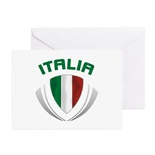 Soccer Crest ITALIA Greeting Cards (Pk of 20)