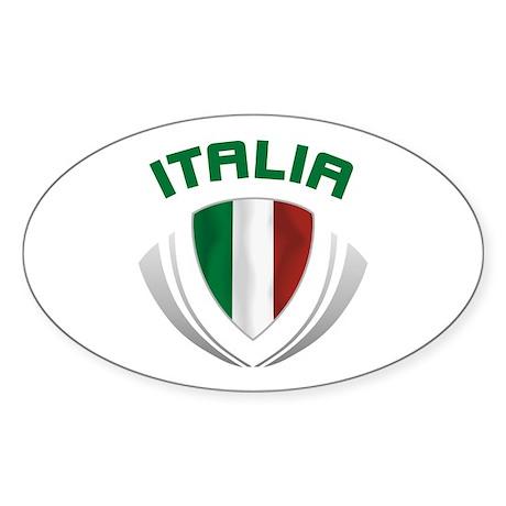 Soccer Crest ITALIA Sticker (Oval)