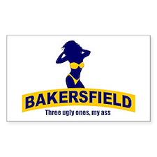 Bakersfield: Three Ugly Ones? Sticker (Rectangular