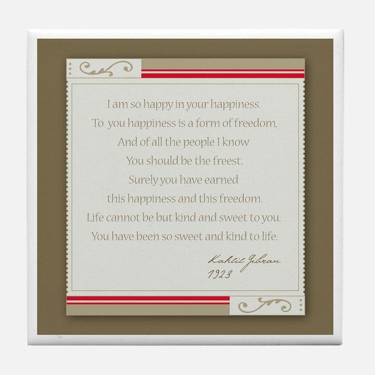Kahlil Gibran Tile Coaster