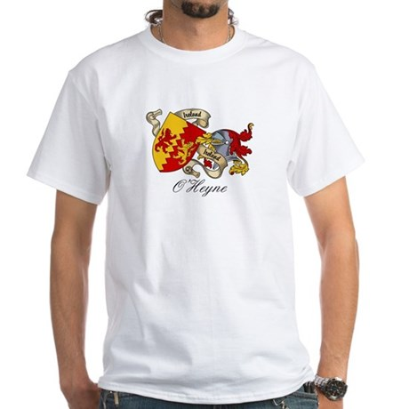 O'Heyne Coat of Arms White T-Shirt